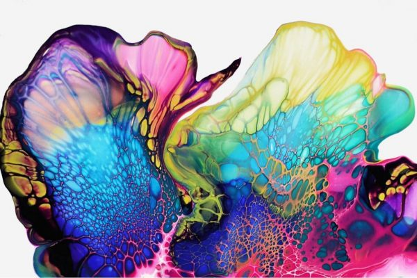 Image of one of Shelee's fluid art paintings