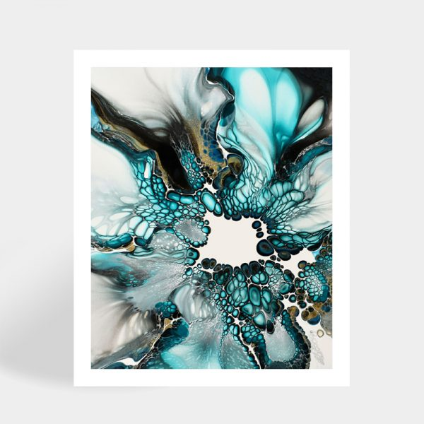 Shelee Art Alarah fluid art rectangular print available to purchase online