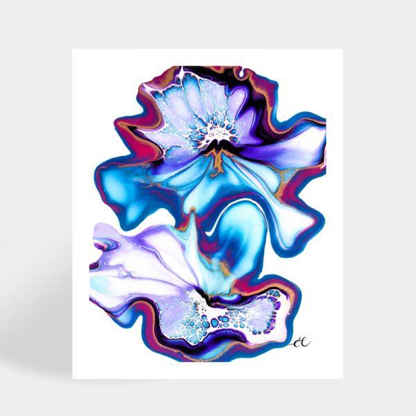 Shelee Art Freya fluid art rectangular print available for sale online