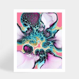 Shelee Art Lilah fluid art rectangular print available for sale online.