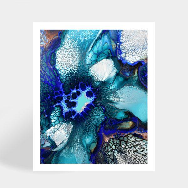 Shelee Art Ocean Motion Rectangular fluid art print available for sale online